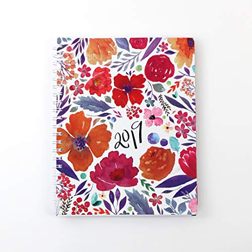 2019 Monthly Weekly Planner Calendar Appointment Book, 8.5 x 11 inches, Premium Paper, Chic Fashionable Elegant (AJWP-005)