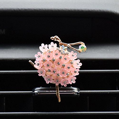 Ballet girl Car Bling Decoration Bling Car Interior Accessories Air Vent Sparkle Rhinestone Diamond Clip (Flower skirt)