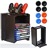 Consoles Ps4 Best Deals - [FSC] Multi Functional Storage Stand Kit Organizer For PS4 with Charging Dock Stand Disk Storage for Use With PlayStation 4 Console and PS4 Controller (Storage Stand Kit)