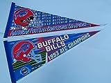 2 DIFFERENT Vintage 1992 1993 BUFFALO BILLS AFC CHAMPIONS FOOTBALL PENNANTS