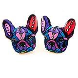 French Bulldog Enamel Colorful Stud Earr