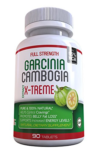 Lean Xtreme 90 Caps (95% HCA 90 Veggie Caps. GARCINIA CAMBOGIA X-TREME 1 Month SUPPLY Weight Loss Fat Burner, Diet Pills, Carb Blocker, Appetite Control, Natural Diet Pills - SAME DAY SHIPPING)