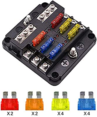 car fuse box blown amazon com 6 way fuse block blade fuse box holder  6 circuit car  6 way fuse block blade fuse box holder