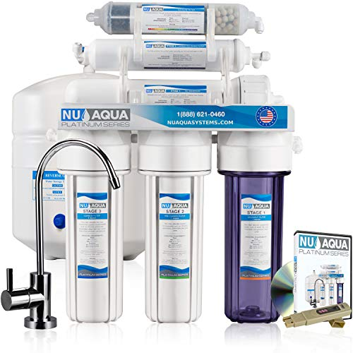 Tall Bottle Retainer - NU Aqua Platinum Series 100GPD Under Sink Reverse Osmosis Drinking Water Filtration System - Premium Water Filter (6 Stage Alkaline)