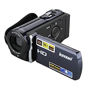 Kenuo HD 1080P Camcorder Digital Video Camera DV 3.0 TFT LCD Screen 16x Zoom 270 Degrees Rotation for Sport /Youtube/Short Films Video Recording Dark Blue
