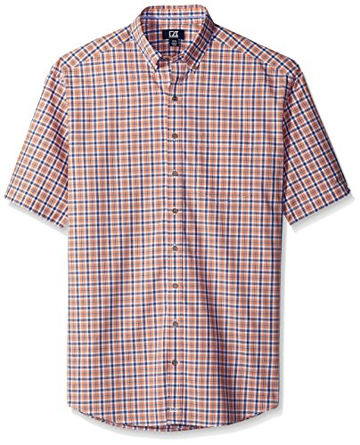 Cutter & Buck Men's Tall Short-Sleeve Mars Plaid Shirt, Costume, 1X/Big