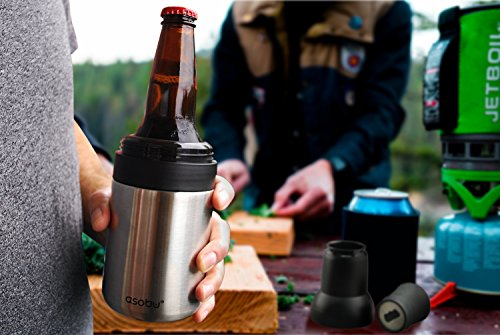 Asobu Frosty Beer 2 Go Vacuum Insulated Double Walled Stainless Steel Beer Bottle and Can Cooler with Beer Opener (Copper) by asobu (Image #2)