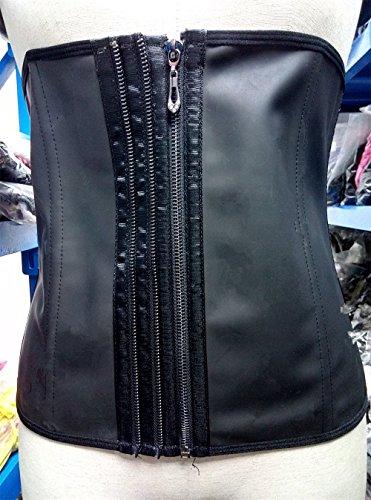 PULABO Mujer Fajas Reductoras de Cinturón Formación para Cincher Underbust Bustiers Corsé Negro #2