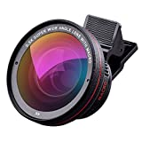 Cell Phone Lens, Tensun iPhone Camera Lens Kit 0.5X Super Wide Angle Lens + 15X Macro Lens (Attached Together), Clip on 2 in 1 Smartphone for iPhone 8, 7, 6s, 6, 5s & Samsung & Android