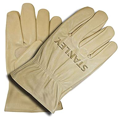 Stanley S82912 Grain Cowhide Driver Glove with Palm Patch