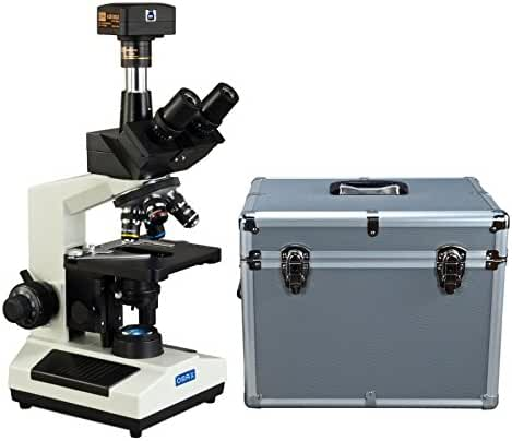 OMAX 40X-2500X USB3 18MP Digital Trinocular Compound LED Lab Microscope with Aluminum Carrying Case