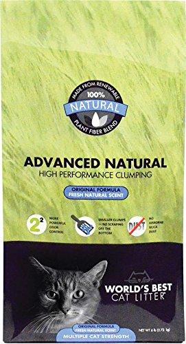 6-Pound Bag World's Best Cat Litter Advanced Naturals Original Formula Multi Cat Litter, 6-Pound Bag