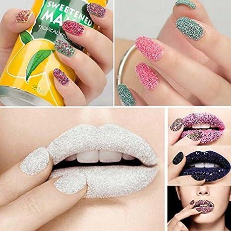 Ducomi® Caviar: juego de cuentas metalizadas decorativas para uñas. Decoración para manicura y pedicura, ideal para decorar las uñas y maquillaje de uñas: ...