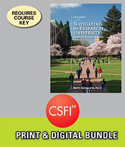 Bundle: Navigating the Research University: A Guide for First-Year Students, 3rd + CSFI, 1 term (6 months) Printed Access Card