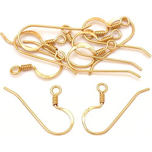 10 14K Gold Filled Fish Hook Earring Wires 21 Gauge