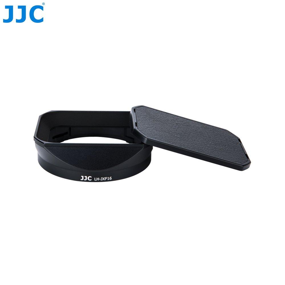 Kit avec Capuchon de Capot Design Coulissant Remplace Fujifilm LH-XF16 JJC LH-JXF16 Black Objectif pour Fujifilm Fujinon XF 16mm F1.4 R WR Objectif