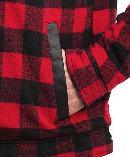 Camisa acolchada Rosso sherpa de leñador de de rojo y color forro Ringspun con y negro rFx0Er6wq