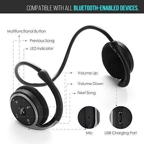 KAMTRON Auriculares Bluetooth 4.1 Deportivos Inalámbricos Cascos,Inalámbricos Running Impermeable Cascos Correr con Micrófono,Hi-Fi Sonido Estéreo,12 ...