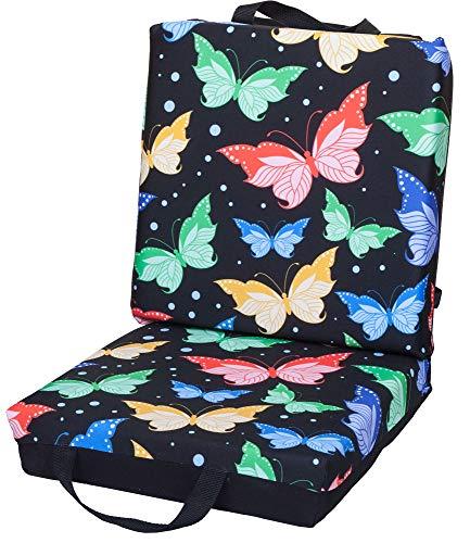 ABS Novelties Butterfly Pattern Double Cushion (Black)