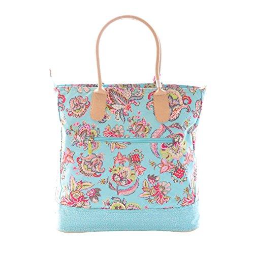 Oilily Summer Flowers Shopper Aqua