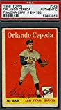 Orlando Cepeda Rookie Vintage Signed 1958 Topps Authentic Autograph - PSA/DNA Certified - Baseball Slabbed Autographed Rookie Cards