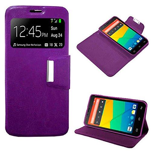 Funda Flip Cover Violeta para Bq Aquaris E5
