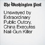 Unswayed by Extraordinary Public Outcry, China Executes Nail-Gun Killer | Simon Denyer