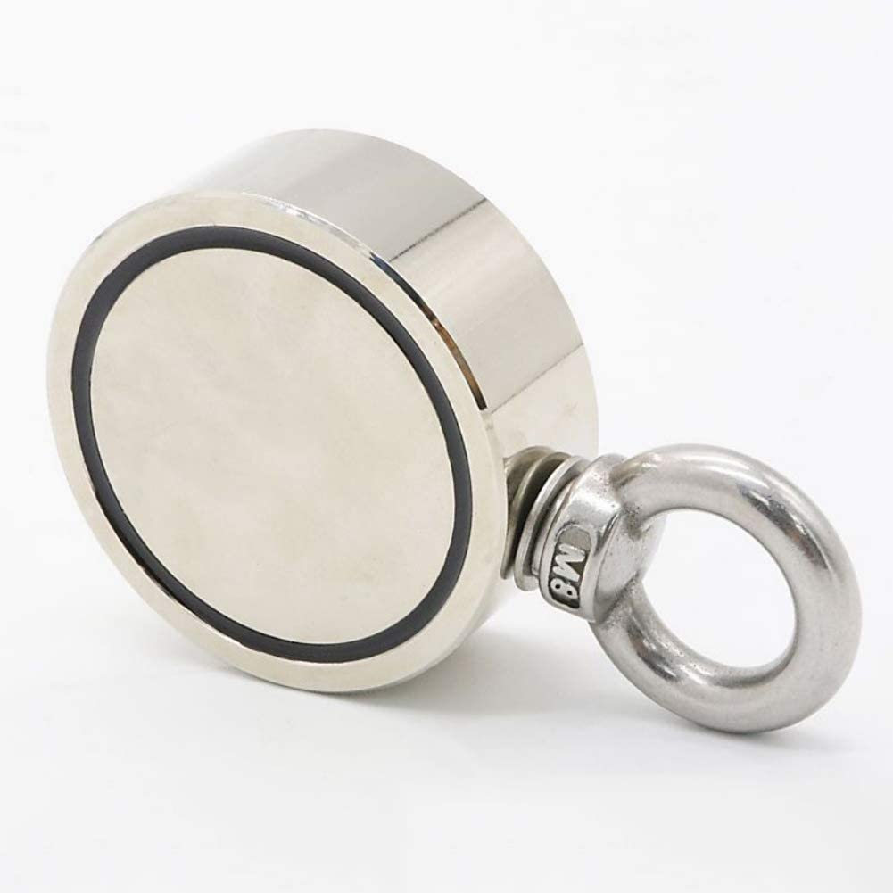 Ultra Strong Pulling Force Magnet Ring With Eye Bolt For Magnet Fishing Etophigh Magnet Hook Double Sided Magnetics Round Neodymium Fishing Magnet
