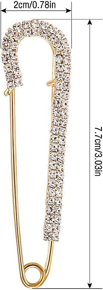 Gobesty Broches de Femme 4 PCS Chandail ch/âle Clips Faux Cristal et Perle Broches Cardigan Collier Broche Clips pour Femmes Filles v/êtements d/écoration