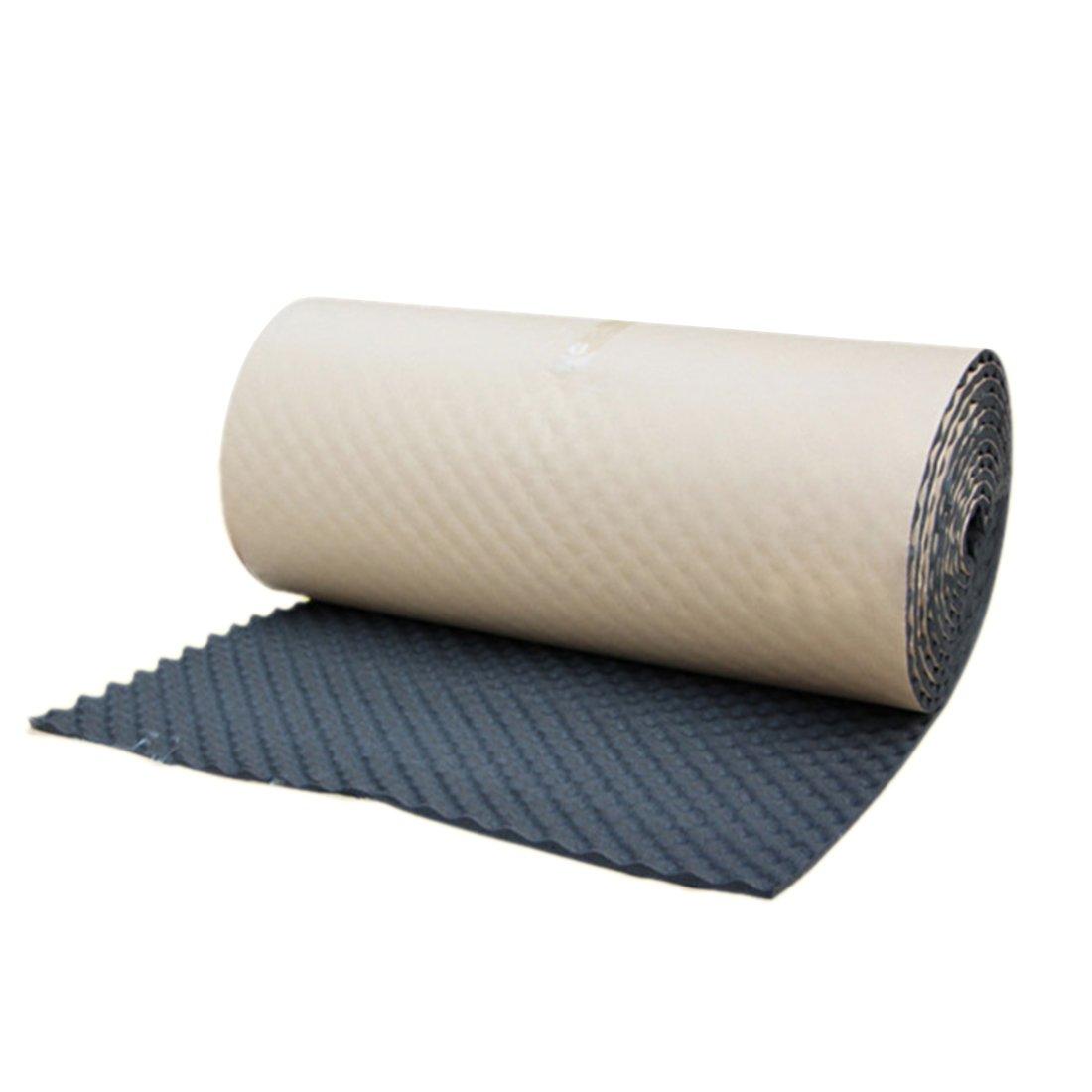 uxcell Wave Studio Sound Acoustic Absorbing Heatproof Foam Deadener 19.7''x197'' 27sqft