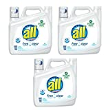 all Liquid Laundry Detergent, Stainlifters- Free & Clear - 141 oz -3 Packs