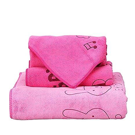 GBSHOP Toallas de baño Versión Coreana de algodón Puro Toalla Suave Toalla de baño Traje de 3 Piezas Traje de Pareja superabsorbente de Parejas Masculinas y ...