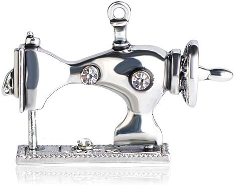 CCJIAC Máquina de Coser Forma Broches Esmalte Vintage Crystal ...
