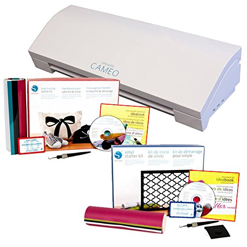 Silhouette Cameo 3 Bluetooth with Silhouette Vinyl and Silhouette Heat Transfer Starter Kits by Cameo