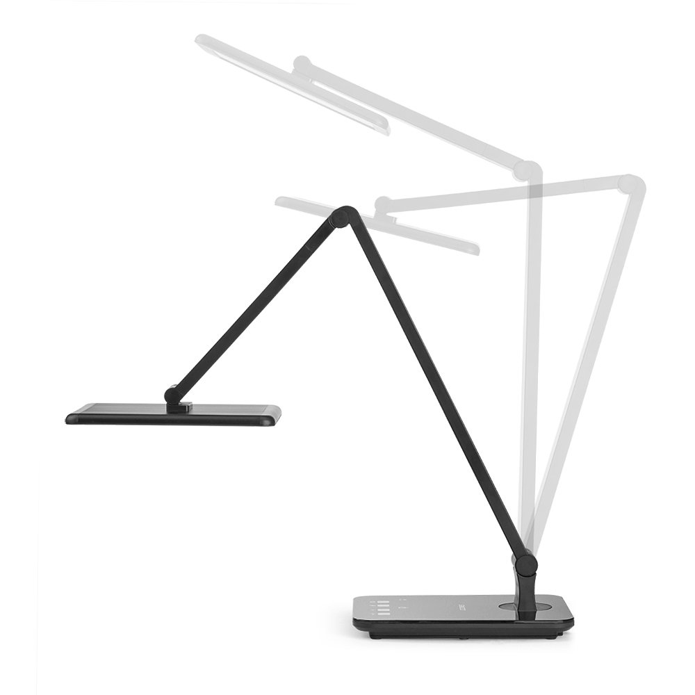 LED Desktop Lamp Saicoo Desk lamp with Large LED Panel, Seamless Dimming-Control of Brightness and Color Temperature, an USB Charging Port by saicoo (Image #6)