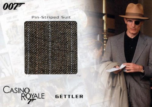 Costume James Bond Casino Royale (James Bond in Motion - Gettler's Pin-Striped Suit Costume Card SC04)