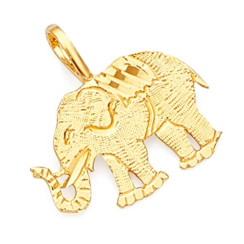 14k Yellow Gold Elephant Pendant ()