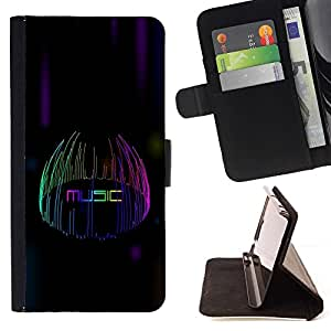 DEVIL CASE - FOR Sony Xperia Z2 D6502 - Music Lights - Style PU Leather Case Wallet Flip Stand Flap Closure Cover