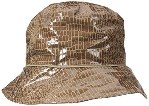 Rain Reversible Hat (Nine West Women's Reversible Bucket Rain Hat, Taupe, One Size)