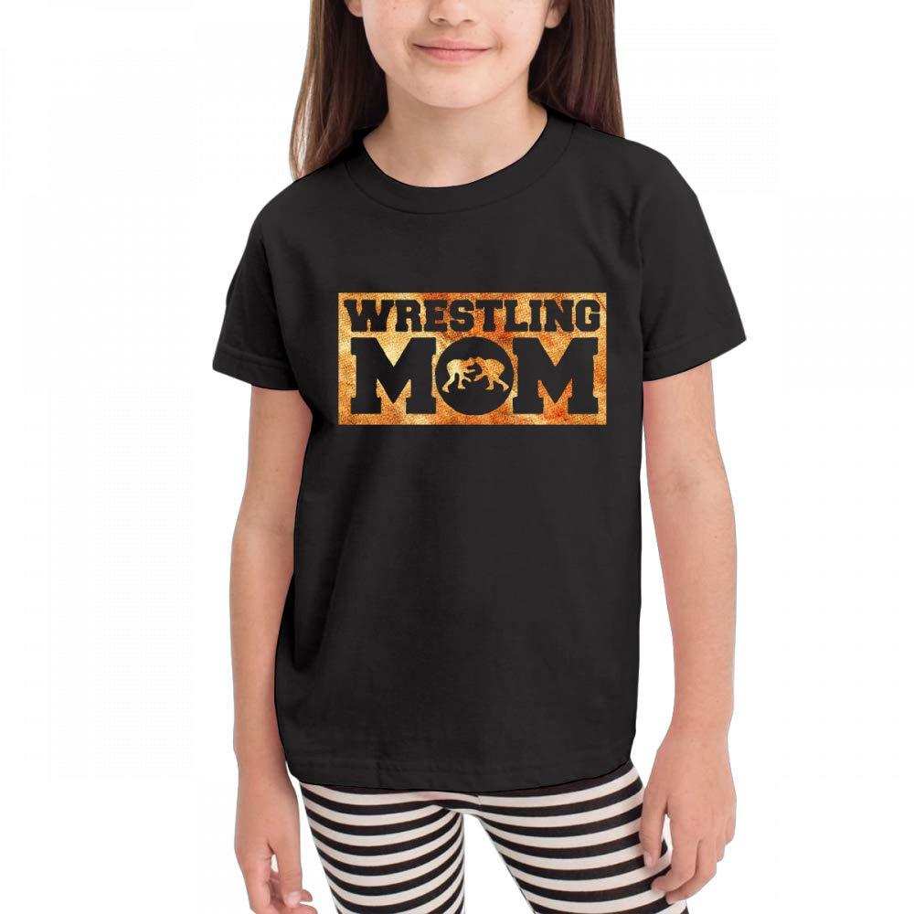 Antonia Bellamy Cool Wrestling Mom Vintage Kids Short Sleeve Crew Neck Graphic Tee Shirts Tops