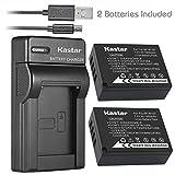 Kastar Battery (X2) & Slim USB Charger for Fujifilm NP-W126 NP-W126s and Fuji HS30EXR HS33EXR HS35EXR HS50EXR X100F X-PRO1 X-PRO2 X-A1 X-A2 X-A3 X-A10 X-E1 X-E2 X-E2S X-E3 X-M1 X-T1 X-T2 X-T10 X-T20