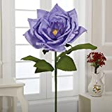 A-190 22'' Paper Maganolia with Stem(Lavender, 5pcs)