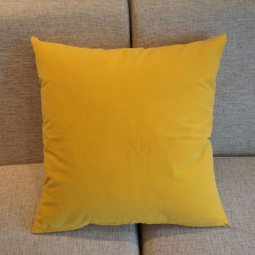 yellow solid color flocking velvet 100 polyester throw pillow covers pillowcase sham decor cushion slipcovers square 19x19 inch amazoncouk kitchen u0026