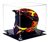 Deluxe Clear Acrylic Full Size Quality Auto, Motorcycle, Nascar, Motocross Racing Helmet Display Case with UV Protection (A024-SR)