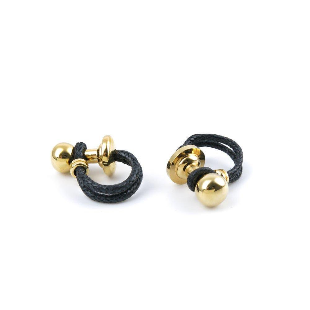 YAOLIHONG JEWELRY Men Boy Jewelry Cufflinks Cuff Links Party Favors Gift Wedding ZS074 Golden Ball Leather Rope