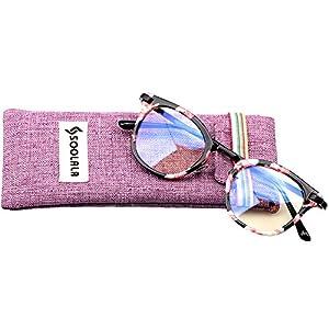 SOOLALA Womens Hot Fashion Cateye Eyeglass Frame Stylish Reading Glasses, Floral, +2.5D