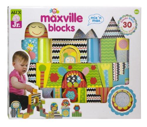 ALEX® Toys – Alex Jr. Maxville Blocks (30) -Baby Wooden Developmental Toy  1980, Baby & Kids Zone