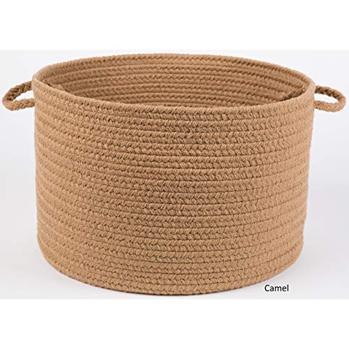 Rhody Rug Madeira 12 x 18-inch Braided Basket Camel