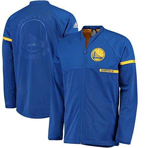 Golden State Warriors Adidas Blue On-Court Full Zip Youth Jacket (X-Large 18/20) (Adidas Court Jacket)