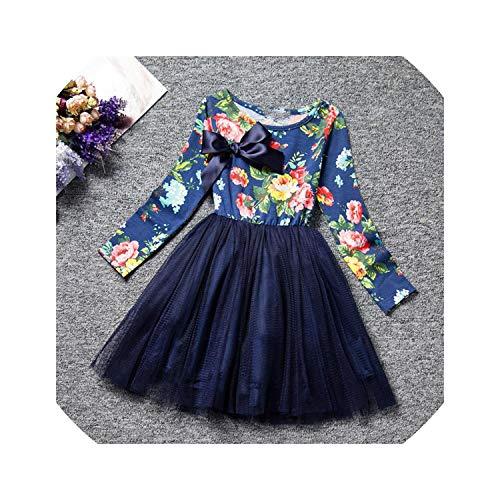 Long Sleeves Casual School Dress for Girls Mini Tutu Dress Party,As -